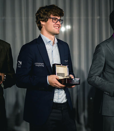 Magnus Carlsen with Grandmaster automatic watch