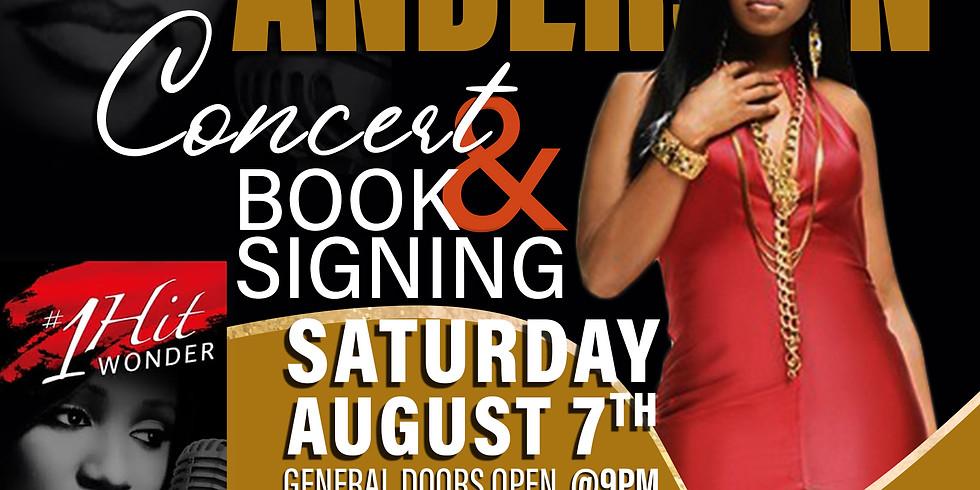 SUNSHINE ANDERSON    CONCERT & BOOK SIGNING