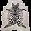 Thumbnail: Tapete de Couro Zebra Branca Off-white