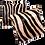Thumbnail: Tapete de Couro Zebra Bege