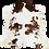 Thumbnail: Tapete de Couro Marrom e Branco