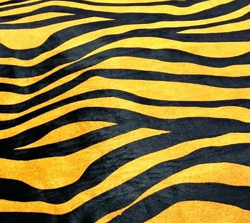 Couro com pelo New Zebra Yellow