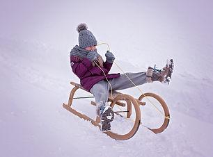sledding with children in Arlberg