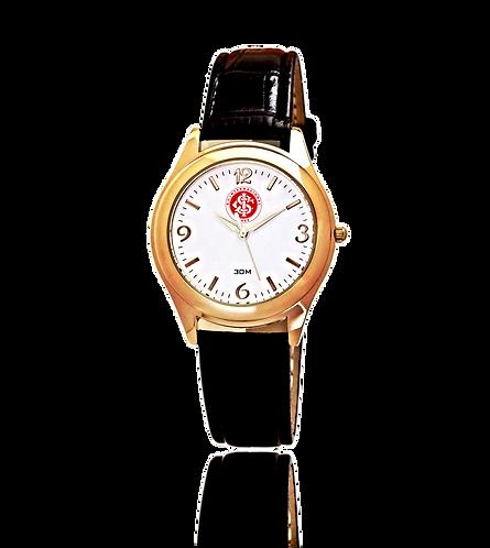 Relógio Pulso Social Dourado