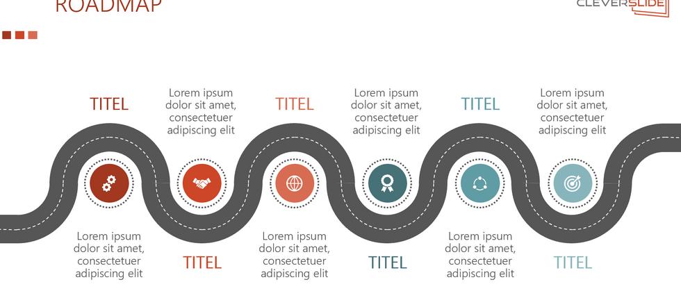 Roadmap powerpoint design Speedart