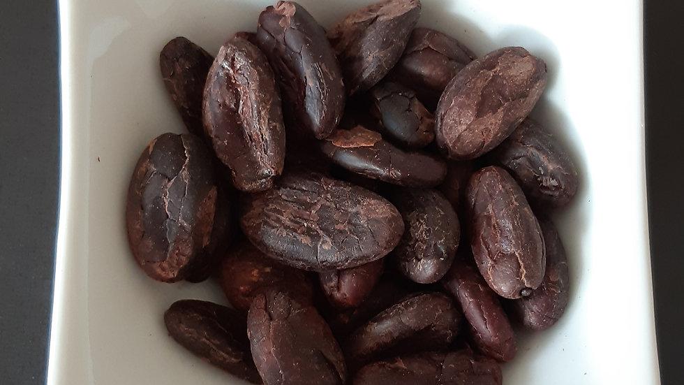Fèves de cacao crue                                               non torréfiées