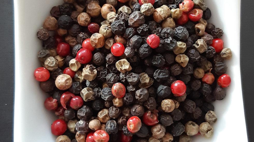 Trio de poivres en grains