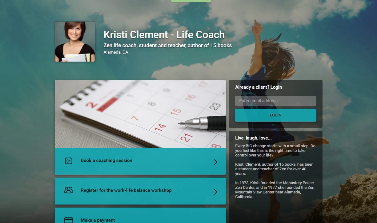 Kristi Clement   Life Coach  Zen life coach  student and teacher  author of 15 books