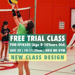 Spike First FUN-Spikers Trial Class