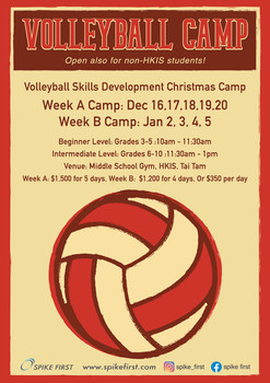 Spike First Christmas Volleyball Camp 2019