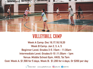 Spike First Winter Break Volleyball Camp 2019