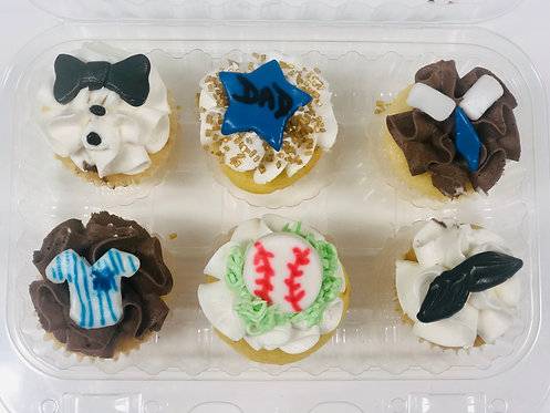 Father's Day - 6ct Pack Mini Cupcakes