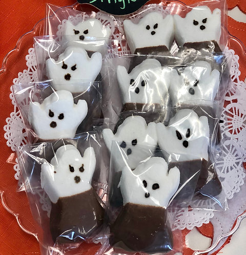 Spooky Sweets - Chocolate Dipped Marshmallow Peeps