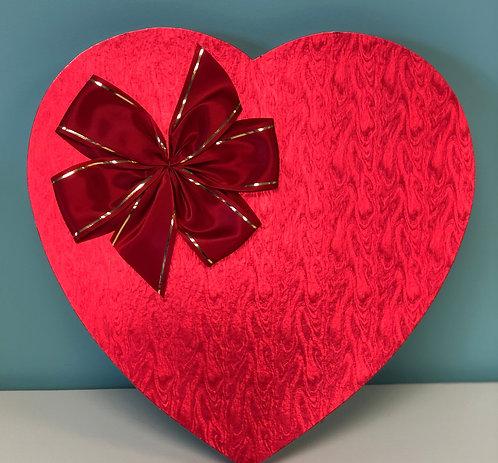 Valentine - 1.5 lb Heart-Shaped Box Foil Bow