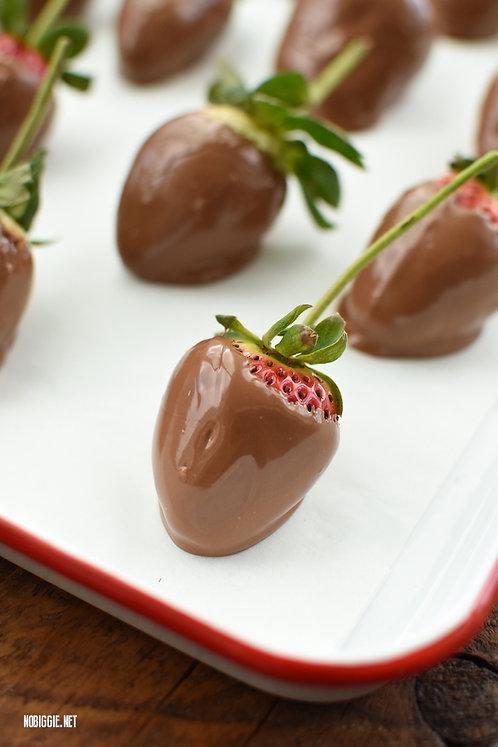 Valentine - LONG STEM Chocolate Dip Strawberries