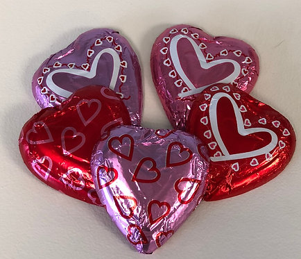 Valentine - Solid Chocolate Foil Heart