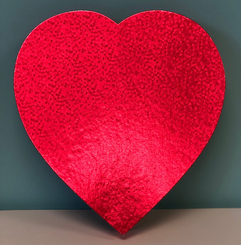 Valentine - 1 lb Heart-Shaped Box Foil Prism