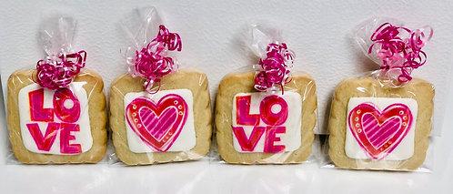 Valentine - Square Sugar Cookies
