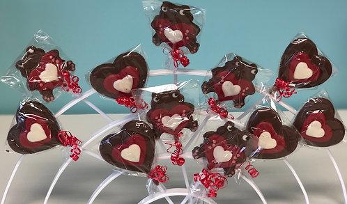 Valentine - Chocolate Lollipops