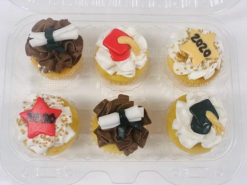 Graduation - 6ct Pack Mini Cupcakes
