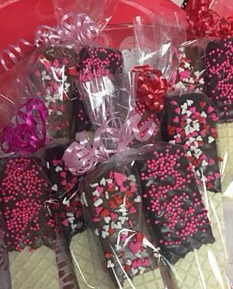 Valentine - Chocolate Dipped Wafer Cookies