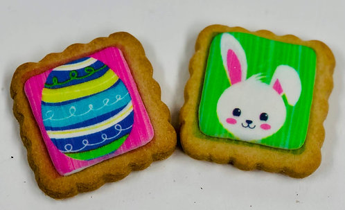 Square Easter Sugar Cookies