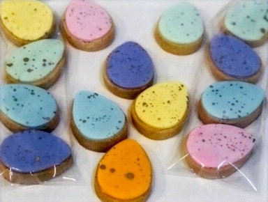 Gold Speckled Easter Egg Cookies