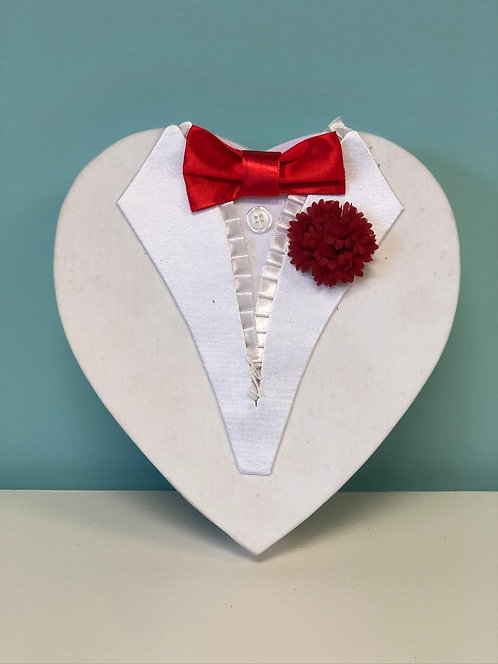 Valentine - 1/2 lb Heart-Shaped Box Tuxedo