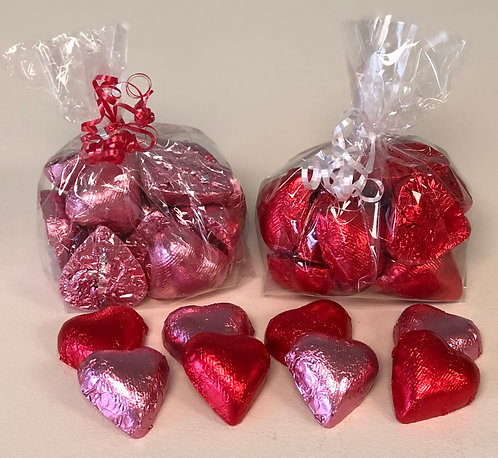 Valentine - Solid Chocolate Foil Hearts