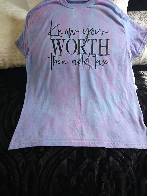 Know Your Worth Tie Dye Tee
