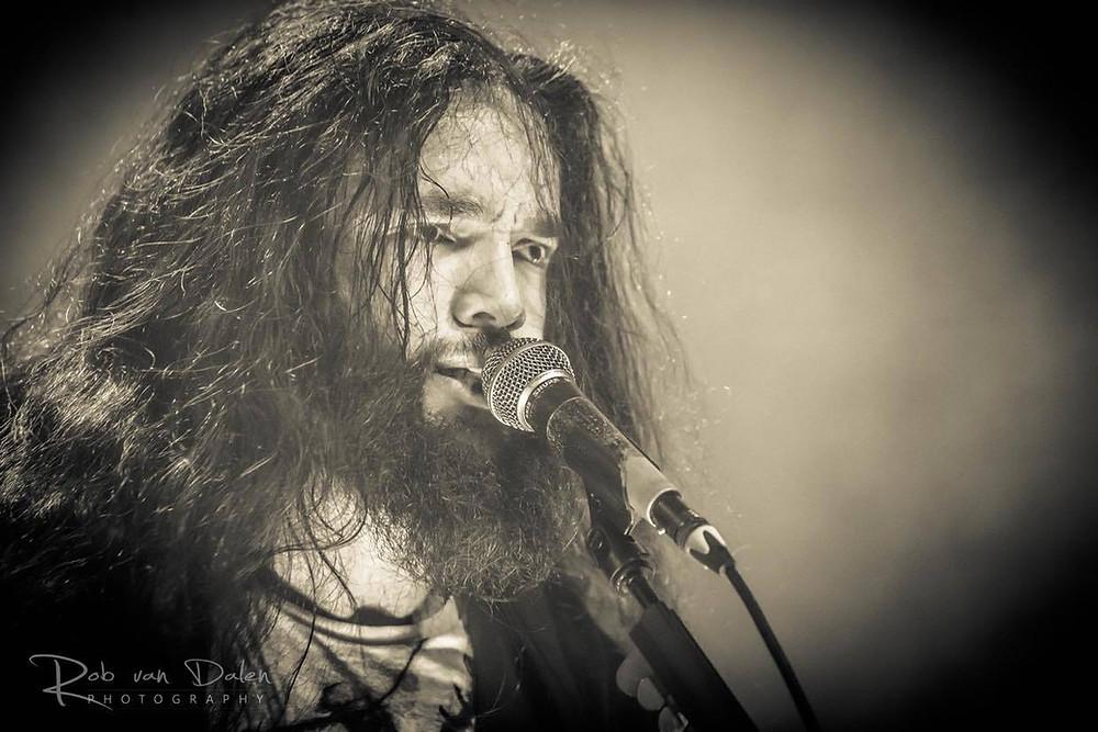 Pieter fronting death / thrash metal band Black Rabbit