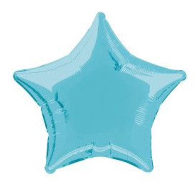 "Balloon Foil 18"" Star Baby Blue"