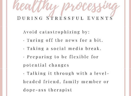 Healthy Processing During Stressful Events