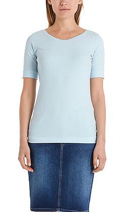 Marc Cain Rundhals-Shirt mit halben Ärmeln