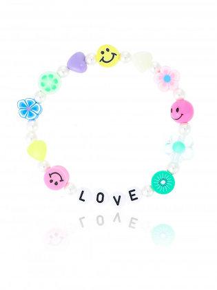 Perlenarmband Smiley Love