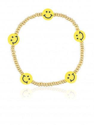 Goldarmband Smiley