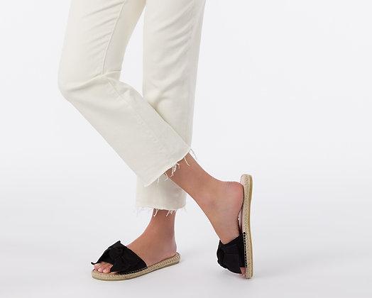 Manebi Flat Sandals with Bow - Hamptons