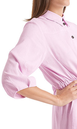 MARC CAIN Langes Hemdblusenkleid mit Leinen