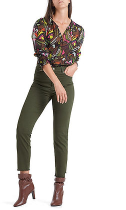 MARC CAIN Feminine Print-Bluse mit Volants