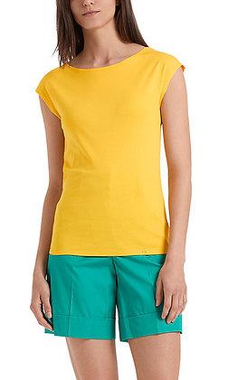 Marc Cain Einfarbiges Basic-T-Shirt aus Baumwolle