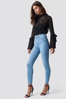 Jeans Denim Skinny High Waist