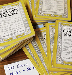 Old school _natgeo magazines from the 1940's and 1950's! How awesome are these_ ._._._._._. .jpg