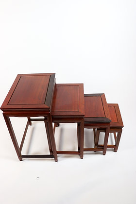Teak Nesting Tables (Set of Four)