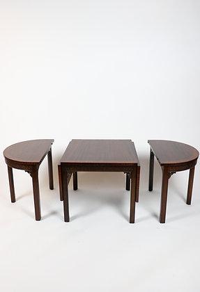 Early 20th-Century, Mahogany, 3-Piece Coffee Table