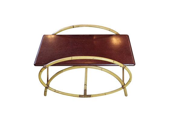 Mid-Century Modern Bamboo Coffee Table