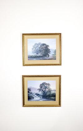 Pair of Bill Hainer Fishing Prints