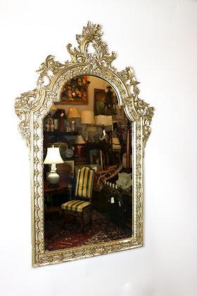 Handcrafted Italian Silver Leaf Mirror