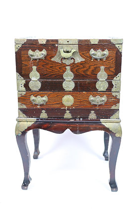 Antique Chinese Chest on Stand