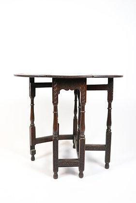 19th-Century Gateleg, English Oak Table