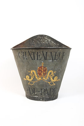 Rare 19th-Century French Wine Grape Carrier